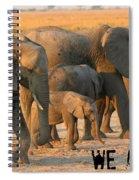 Kalahari Elephants Spiral Notebook