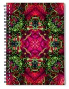 Kaleidoscope Made From An Image Of A Coleus Plant Spiral Notebook