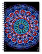 Kaleidoscope Stained Glass Window Series Spiral Notebook