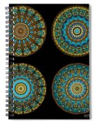 Kaleidoscope Steampunk Series Montage Spiral Notebook