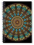 Kaleidoscope Steampunk Series Triptych Spiral Notebook