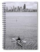 Kayaking Elliot Bay Spiral Notebook