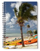 Kayaks On The Beach Spiral Notebook