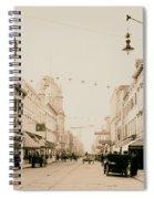 King Street In Charleston South Carolina Circa 1910 Spiral Notebook