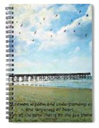 1 Kings 4 29 Pier Spiral Notebook