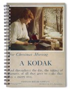 Kodak Advertisement, 1914 Spiral Notebook