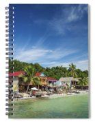 Koh Rong Island Beach Bars In Cambodia Spiral Notebook