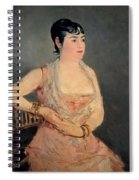Lady In Pink Spiral Notebook