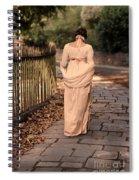 Lady In Regency Dress Walking Spiral Notebook