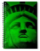 Lady Liberty In Green Spiral Notebook