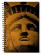 Lady Liberty In Orange Spiral Notebook