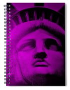 Lady Liberty In Purple Spiral Notebook