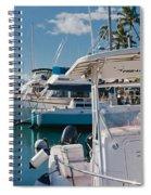 Lahaina Marina Maui Hawaii Spiral Notebook
