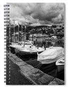 Lake Maggiore Bw Spiral Notebook