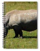 Lake Nakuru White Rhinoceros Spiral Notebook