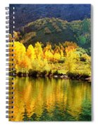 Lake Reflection In Fall  Spiral Notebook