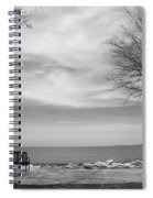 Lake Tree And Park Bench Spiral Notebook