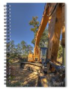 Cat Excavator  Spiral Notebook