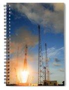 Launch Of Soyuz Vs07 2014 Spiral Notebook