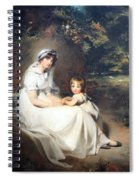 Lawrence's Lady Mary Templetown And Her Eldest Son Spiral Notebook