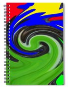 Leaf And Color Abstract Spiral Notebook