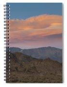 Lenticular Clouds Over Alabama Hills Spiral Notebook