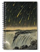 Leonid Meteor Shower Of 1833 Spiral Notebook