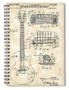 Les Paul Guitar Patent 1953 - Vintage Spiral Notebook