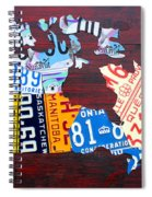 License Plate Map Of Canada Spiral Notebook