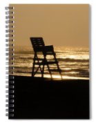 Lifeguard Chair In The Morning Spiral Notebook