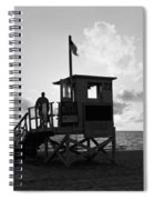 Lifeguard Hut On The Beach, 22nd St Spiral Notebook