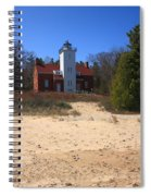 Lighthouse - 40 Mile Point Michigan Spiral Notebook
