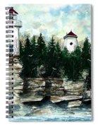 Lighthouse Cliff Spiral Notebook