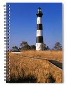 Lighthouse In A Field, Bodie Island Spiral Notebook