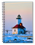 Lighthouse On Ice Spiral Notebook