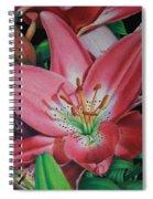 Lily's Garden Spiral Notebook