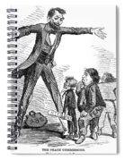 Lincoln Cartoon, 1865 Spiral Notebook