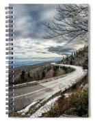 Linn Cove Viaduct During Winter Near Blowing Rock Nc Spiral Notebook