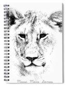 Lion Portrait Spiral Notebook
