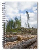 Logpile At A Clear Cut Area Spiral Notebook