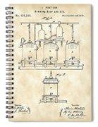 Louis Pasteur Beer Brewing Patent 1873 - Vintage Spiral Notebook