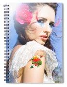 Love Heart And Arrow Tattoo Spiral Notebook