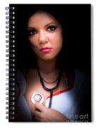 Love Struck Stethoscope Nurse Spiral Notebook