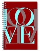 Love Typography Spiral Notebook