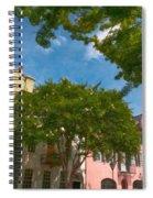 Lowcountry Rainbow Row Spiral Notebook