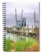 Lowcountry Shrimp Dock Spiral Notebook