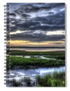 Cloud Reflections Over The Marsh Spiral Notebook