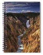 Lower Yellowstone Falls II Spiral Notebook