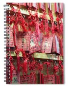 Lucky Wishes In Chinese Temple Spiral Notebook
