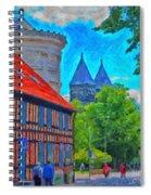 Lund Street Scene Spiral Notebook